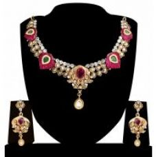 Flat 87% off on Zaveri Pearls Ethnic Indian Necklace Set-ZPFK4149