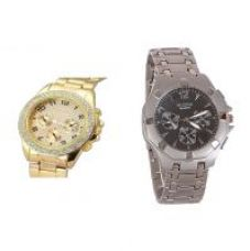 Get 85% off on Paidu golden and Silver Rosra Combo of 2 Casual Watches For Mens by 7star