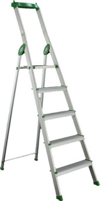 Get 20% off on Bathla Eco 4 Step Aluminium Ladder  (With Platform, Tool Tray)