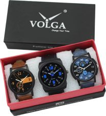 Buy Volga VL05LR01-02 Fastrack Stylish Combo Watch  - For Men for Rs. 449
