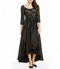 SCENESTEALER Women's Asymmetrical Gown (EthnicElegance-2217, Ivory Black, Medium) for Rs. 1,449
