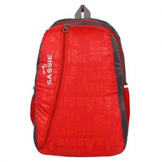 SASSIE Polyester 31Litres Red School Backpack (47 x 32 x 23 CM) for Rs. 377