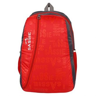 Buy SASSIE Polyester 31Litres Red School Backpack from Amazon
