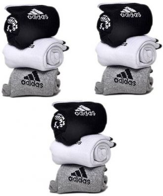 Flat 81% off on Adidas Men & Women Ankle Length Socks  (Pack of 9)
