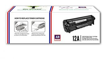 AB 12A Black Toner Cartridge Q2612A/ Compatible for HP LaserJet - 1010/ 1012/ 1015/ 1018/ 1020/ 1022/ 1022n/ 3020/ 3030/ 3050/ 3052/ 3055/ M1005/ M1319f for Rs. 595