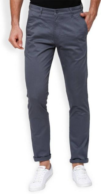 Get 30% off on Highlander Slim Fit Men Grey Trousers
