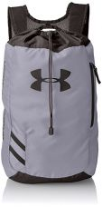 Buy Under Armour Trance Polyester 21 inches Steel and Black Drawstring Bag (1248867-035) from Amazon