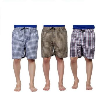 Buy RR Accessories Checkered Men's Boxer  (Pack of 3) for Rs. 235