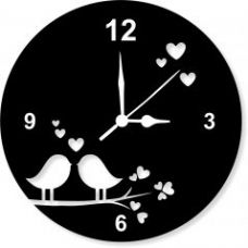 Enamel Designer Black Wall Clock - Clock054 for Rs. 299