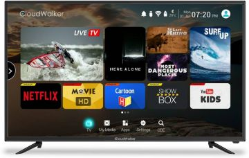Get 15% off on CloudWalker Cloud TV 109cm (43 inch) Full HD LED Smart TV  (CLOUD TV 43SF)