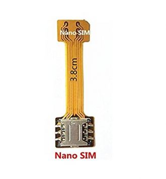 Buy Shockware New Hybrid SIM Slot Adapter, Avails You To Run 2 SIM And Micro SD Card, All At A Time (Nano to Nano Sim Slot) from Amazon