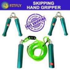 Get 69% off on BRANDED SKIPPING ROPE WOODEN & PAIR OF HAND GRIPPERS WOODEN