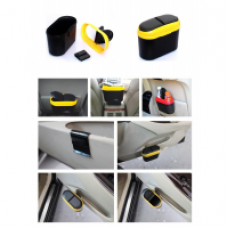 Buy Car Trash Rubbish Can Garbage Dust Dustbin Box Case Holder Bin Hook Multi Colour for Rs. 249