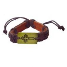 Buy Men Style  Best Selling Handmade Genuine Real Leather Braided Bracelet   Brown  Leather Round Bracelet For Men And Women from ShopClues