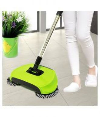 Buy Vivir Hand Push 360 Degree Built-in Rotating 3 in 1 Floor Cleaning Broom (Sweeping Machine ,Dustpan & Trash Bin)- Green from SnapDeal