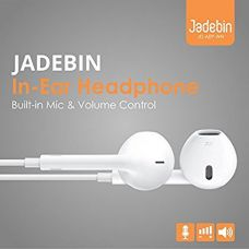 Buy Jadebin Earphones Earpods with Mic Compatible with Apple iPhone/iPad / iPod from Amazon