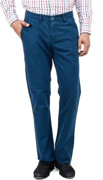 Buy Uber Urban Regular Fit Men's Blue Trousers from Flipkart
