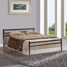 FurnitureKraft Palermo Metal Queen Bed  (Finish Color -  Black) for Rs. 4,499