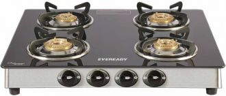 Buy Eveready TGC 4B RV Brass, Glass, Stainless Steel Manual Gas Stove  (4 Burners) from Flipkart