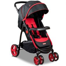 Buy Alex Daisy Fisher Range - Rover Stroller Cum Pram with 10 inch Rear Wheels(FPST04R, Red) from Amazon