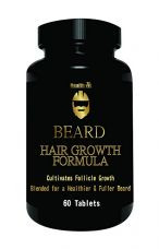 Buy Healthvit Beard Facial Hair Supplement  For Thicker & Fuller Beard 60 Tablets from Amazon