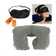 Get 55% off on 3 In 1 Travel Set - (Neck Pillow, Eye Mask Ear Plug)