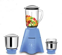 Buy Sameer I-Flo Crest 550-Watt Mixer Grinder With 3 Jars (White) from Amazon