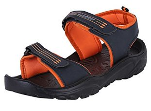 Buy Lotto Men's Sandal & Floaters Travel GT8146 Navy/Orange from Amazon