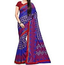 Buy Printed Mysore Synthetic Crepe Sari from ShopClues