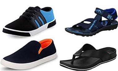 Buy Maddy Perfect Combo of Sneaker, Loafer, Slipper & Sandal for Men Pack of 4 in Various Sizes from Amazon