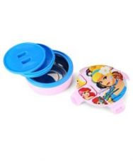 Buy Disney Cinderella Round Lunch Box - Pink And Blue for Rs. 227