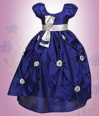 Saba Garments Blue Girl's Party Wear Gown for Rs. 1,799