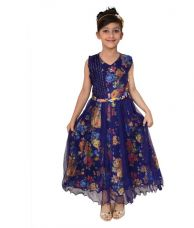 Flat 45% off on Arshia Fashions Net Comfortable Blue Dresses