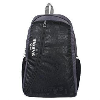 Buy Sassie Black & Gray Smart School Bag (31 Litres) (SSN-1032) from Amazon