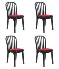 Buy Cello Decent Delux Dining Table Chair Set of 4 in Black Colour from SnapDeal