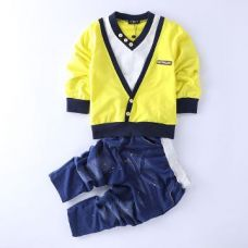 Buy Trendy Yellow T-Shirt And Pant Set from Hopscotch