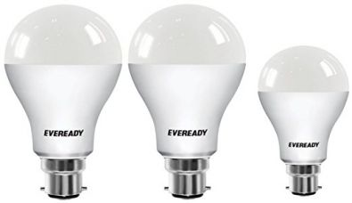 Eveready Base B22 14W Pack of 2 + 9W LED Bulbs (Cool Day Light) for Rs. 409