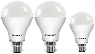 Eveready Base B22 14W Pack of 2 + 9W LED Bulbs (Cool Day Light) for Rs. 349