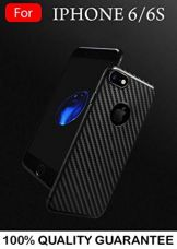 MOBISTYLE Ultra Thin Carbon Fiber Tpu 360 degree all side protection Case Cover For iphone 6 / iphone 6s (Black) for Rs. 299