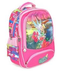 Flat 58% off on Disney Fairies School Bag Pink - 15.35 inches