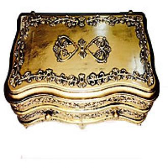 Buy Gold Pastic  With Two Sections  For Jewellery Storing And Room Dcor from ShopClues