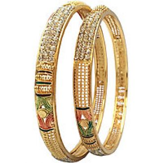 Buy Bhagya Lakshmi Gold plated bangles for women for Rs. 174