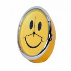 Get 48% off on Mini Round Table Clock  Smiley Yellow 4 Cm