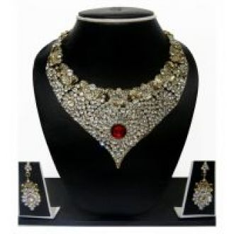 Get 80% off on Zaveri Pearls Non Plated Multicolor Alloy Necklace Set For Women