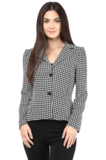 Flat 40% off on X THE VANCAWomen Haider Houndstooth Light Weight Jacket In Black Checks    THE VANCA Women Haider Houndstooth Light Weight Jacket In Black Checks    ...       Rs 2099 Rs 1259  (40% Off)         Size: M, L, XL