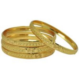 Flat 82% off on Czar Fashionable  Gorgeous Bangle Set -BANGLE6650.2.6