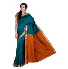 Parchayee Green Cotton Self Design Saree With Blouse for Rs. 749