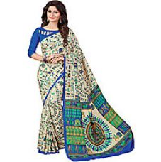 Indian Style Sarees New Arrivals Latest Women's Multicolor Art Silk Printed Designer Saree With Blouse for Rs. 299