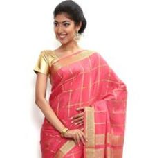 Buy Wonderful Pure Mysore silk saree-Pink-SSSB120-VQ-Crepe from ShopClues