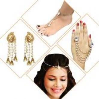 Flat 82% off on Meia Set Of 4 Jewellery Combo-1002552